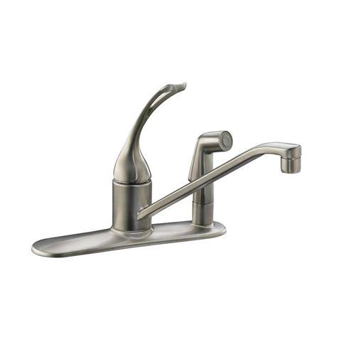 Kohler Brushed Nickel Kitchen Faucet by Kohler Coralais Single Handle Standard Kitchen Faucet With