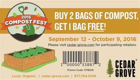 cedar grove coupon code