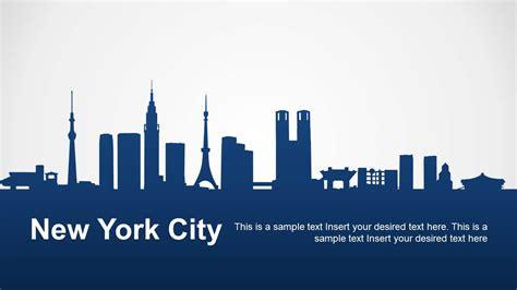 york city powerpoint template slidemodel