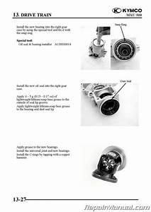 Kymco Mxu 500 Atv Swingarm Solid Rear Axle Service Manual