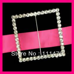 wholesale 87mm inner bar large square wedding rhinestone buckle chair sash rhinestone buckle