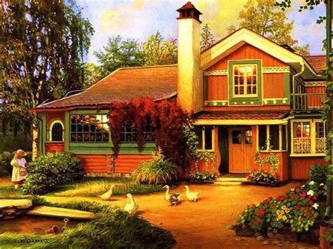 Beautiful, Country, Cottage, Widescreen, High, Resolution