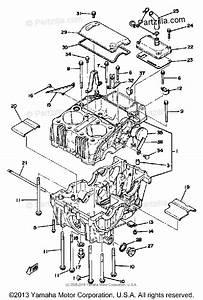 Yamaha Motorcycle 1979 Oem Parts Diagram For Crankcase