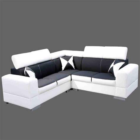 canape blanc canapé angle noir et blanc