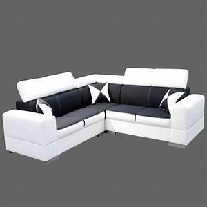 canape angle reversible avec tetieres ajustables en pvc With tapis couloir avec canape lit cinna soldes
