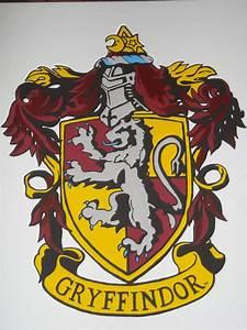 Gryffindor Crest Painting2 by Archerchick on DeviantArt