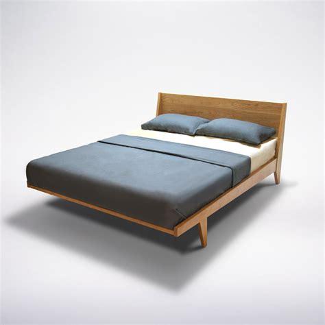 modern platform bed cherry mid century modern solid