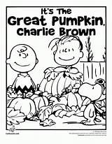 Coloring Charlie Halloween Brown Pumpkin Snoopy Peanuts Printable Adults sketch template