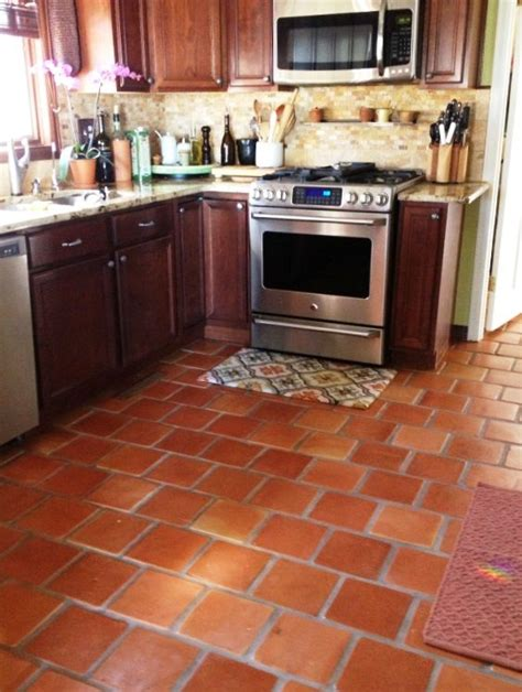 terracotta tile kitchen 12x12 traditional saltillo mexican clay tile by rustico 2700