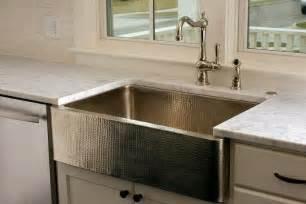 kitchen sinks with backsplash hammered kitchen sink transitional kitchen