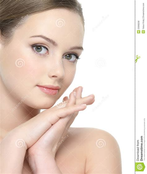 Beautiful Face Of Young Woman Stock Photo  Image 23068208