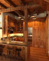 nice kitchen wood tile Rustic Kitchen Design - Very nice. I wish there was more ...