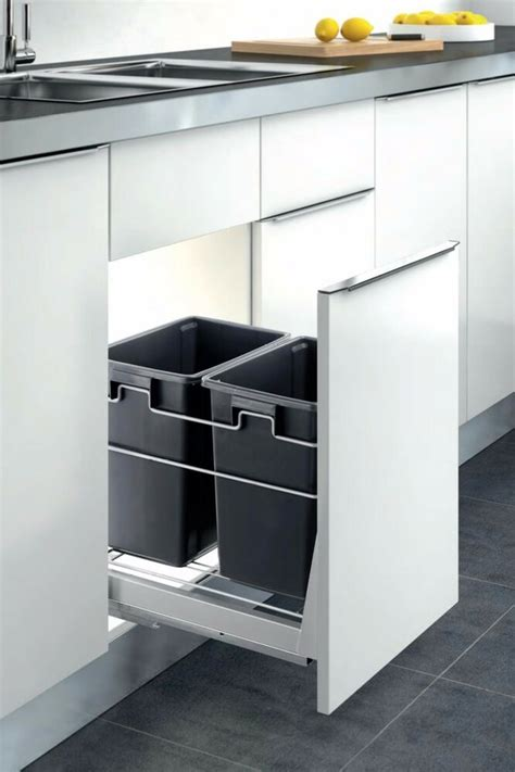 double container kitchen cabinet pull  trash