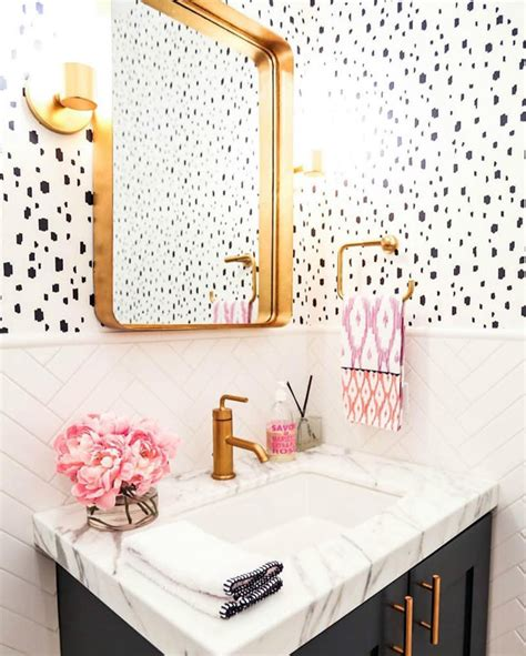 How To Get Bathroom Wallpaper by 17 Times That Wallpaper In A Bathroom Stole The Show