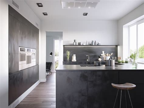 Black White Wood Kitchens by 40 Beautiful Black White Kitchen Designs