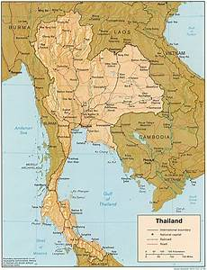 Map of Thailand, Geography