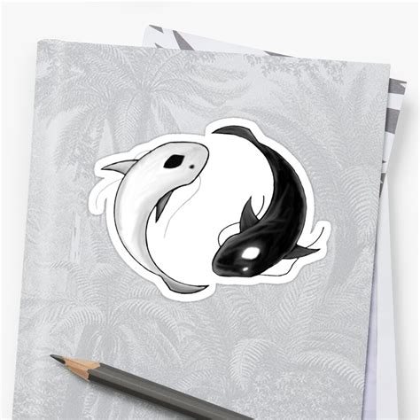 yin and yang sticker by shadowdesigns redbubble
