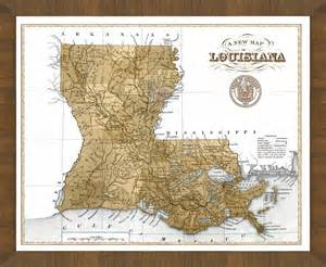 personalized paper fans map of louisiana a great framed map that s ready to hang