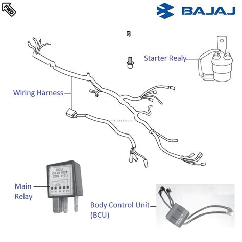 bajaj pulsar wiring diagram  schemes
