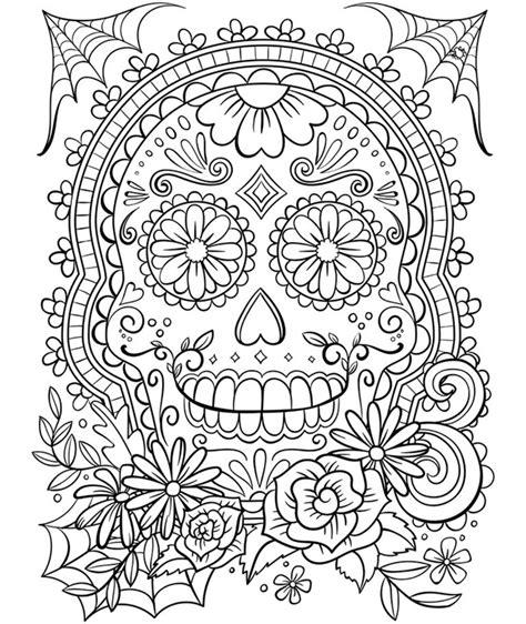 sugar skull coloring page crayola com