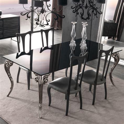 black table restaurant large black glass dining table set juliettes interiors