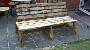 Garden bench out of reclaimed wood - DIY - YouTube