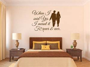 love wall quotes when i said yes scripture vinyl wall art With biblical wall decals ideas