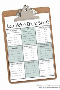 Lab Value Cheat Sheet    Clinical U0026 39 S Cheat Sheet    Nursing