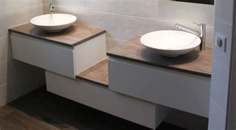 frais meuble salle de bain vasque a poser 38 dans paroi de salle de bains remodel