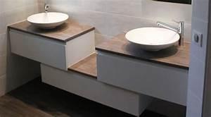 frais meuble salle de bain double vasque a poser 38 dans With meuble salle de bain pour double vasque Á poser