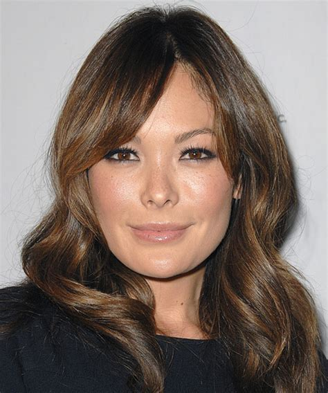 Lindsay Price Long Straight Casual Hairstyle   Medium