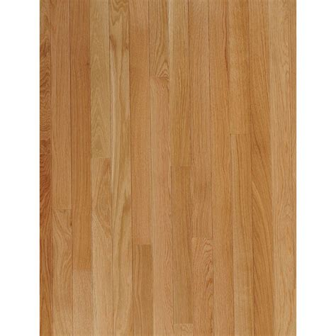 bruce hardwood lowes shop bruce bayport strip 2 25 in w prefinished oak hardwood flooring seashell at lowes com