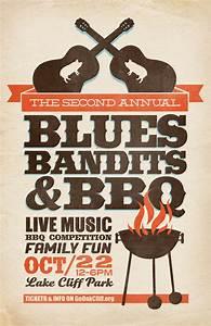 Blues, Bandits & BBQ Poster | All BBQ | Pinterest