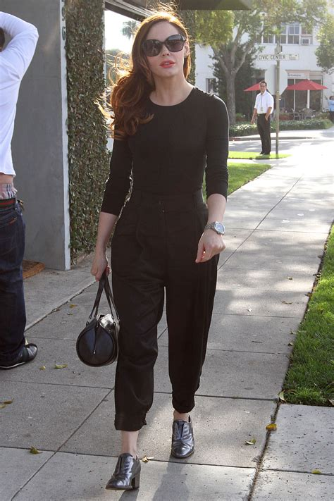 Rose McGowan Leaving Byron and Tracy Hair Salon in Beverly ...
