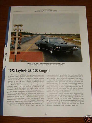 1972 buick skylark gs 455 stage 1 specs info photo 72 gran sport s1 s 1 i ebay