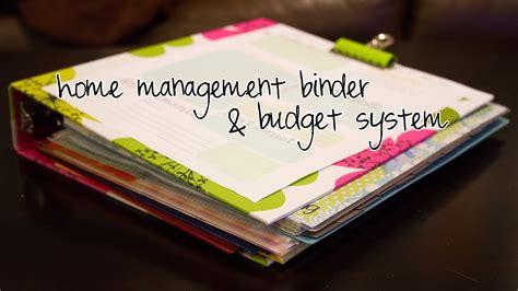home management budget binder youtube