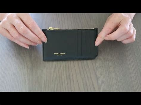 yves saint laurent card holder review red ruby creates youtube