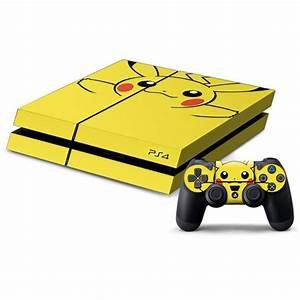 ps4 pikachu pokemon decal skin for console and controller