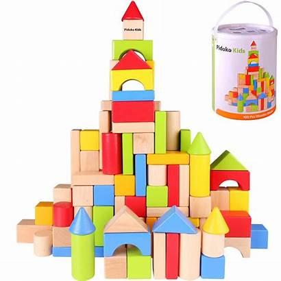 Blocks Wooden Building Colored Block Wood Plain