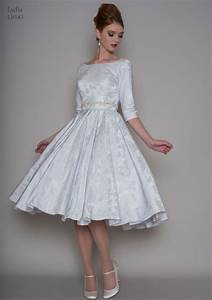 25 of the most beautiful tea length short wedding dresses With 3 4 sleeve tea length wedding dress