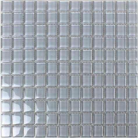 glass mosaic tiles light grey uni tm33281m