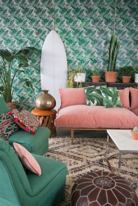 idees de decoration avec la couleur corail les