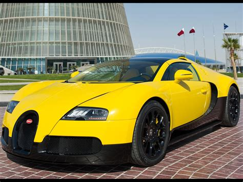 2012 Bugatti Veyron Grand Sport Black & Yellow At Qatar