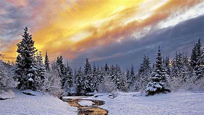 Winter Snow Nature Desktop 4k Landscape Mac