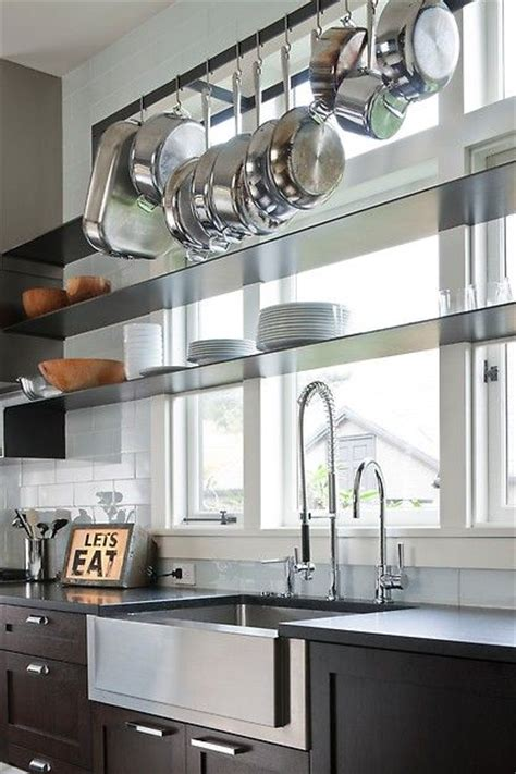 beautiful contemporary kitchen  thin profile shelves