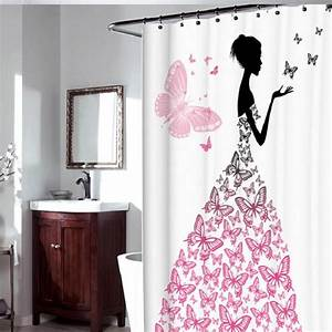 Rideau De Salle De Bain : shower curtain bathroom curtains banheiro christmas shower ~ Premium-room.com Idées de Décoration