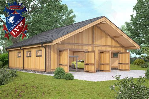 Awesome Log Garage Designs 16 Pictures  Home Plans