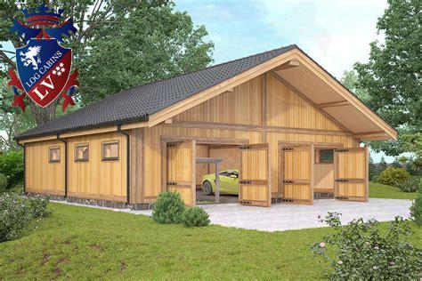 Timber Frame Laminated Garages from logcabins lv - Log ...