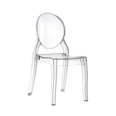 chaises en plexiglas chaise de style en polycarbonate transparent elizabeth