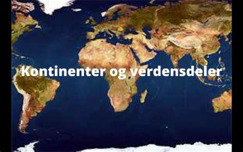kontinenter og verdensdeler by Sigurd Rafaelsen